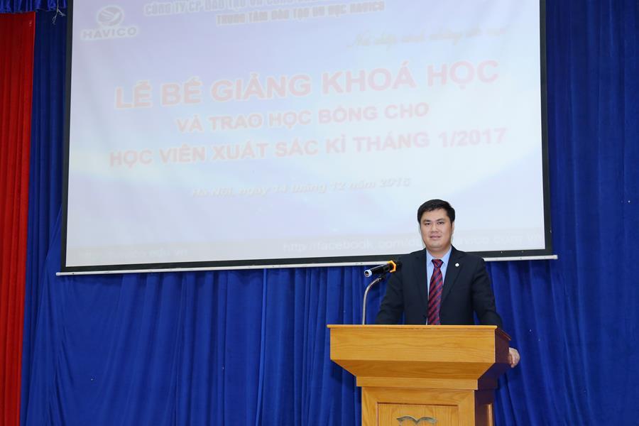 Tiến sĩ Đỗ Minh Chính - Chủ tịch HĐQT, Giám đốc HAVICO phát biểu tại sự kiện