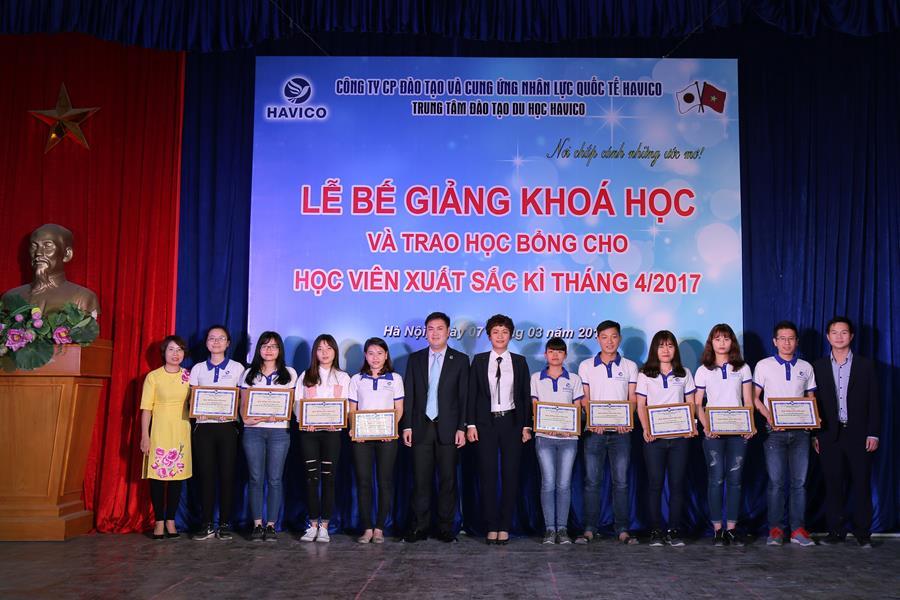 Các học viên được nhận học bổng kỳ tháng 4 của HAVICO