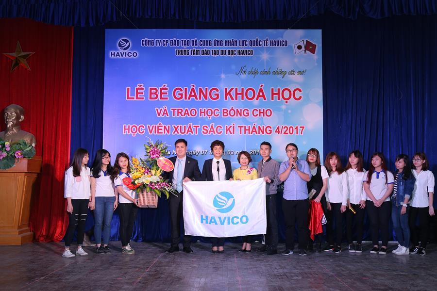 Học viên lớp K16-A8 gửi lời cám ơn tới Ban lãnh đạo HAVICO