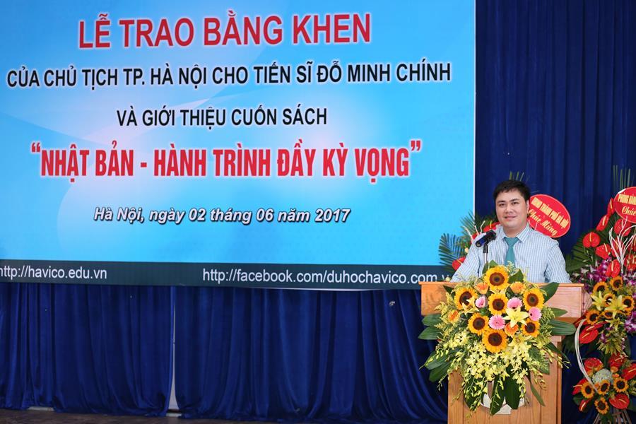TS. Đỗ Minh Chính phát biểu trong sự kiện