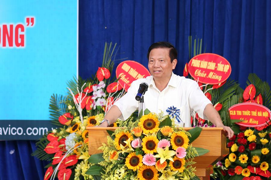 Nguyên Bộ trưởng Lê Doãn Hợp phát biểu trong sự kiện.