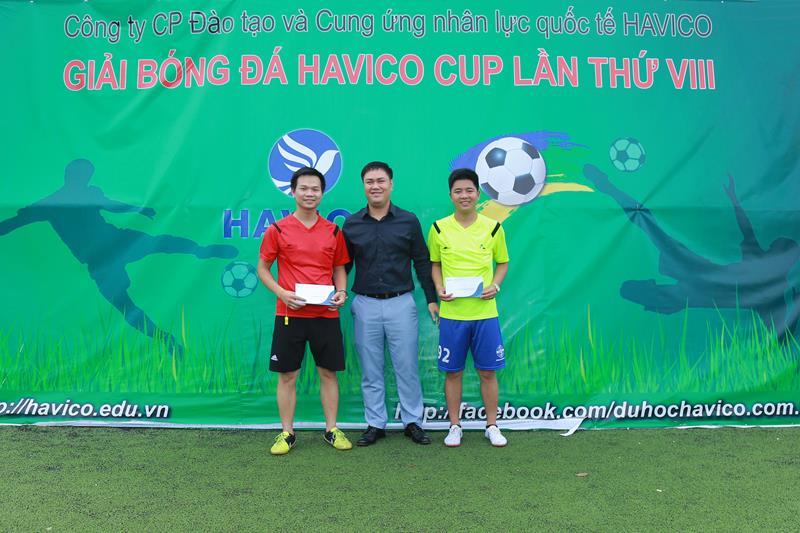 Phần thưởng dành cho tổ trọng tài đã điều khiển xuất sắc các trận đấu. Trọng tài bắt chính trong hai trận đấu cuối cùng của giải chính là hai thầy giáo Trịnh Đình Tài và Đỗ Văn Nam đang giảng dạy tại HAVICO.