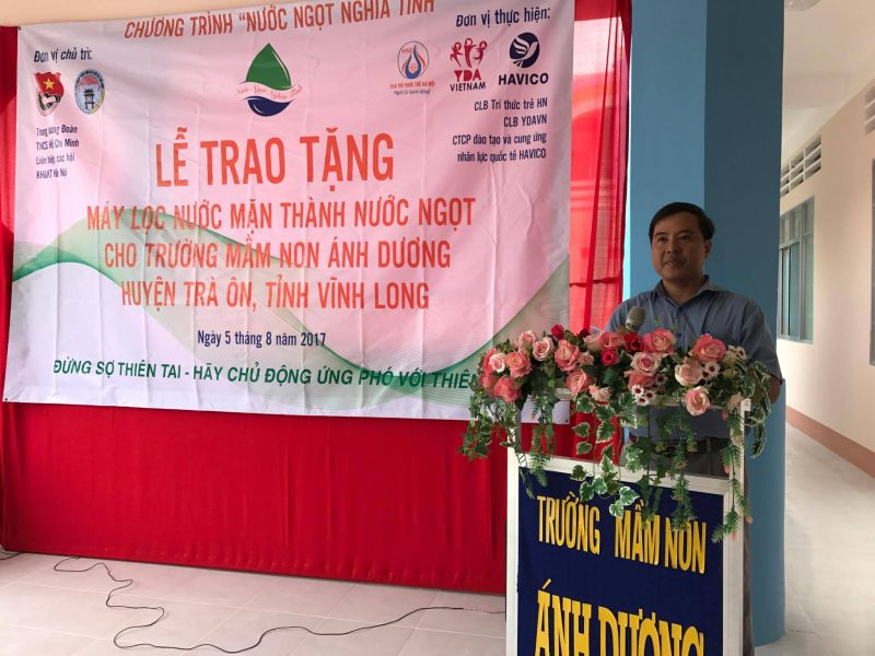 Đại diện lãnh đạo địa phương phát biểu tại sự kiện