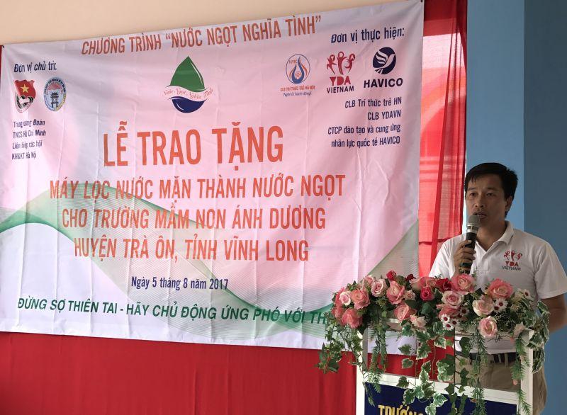Ông Trần Vũ Thành – Chủ tịch CLB Trí thức trẻ Hà Nội