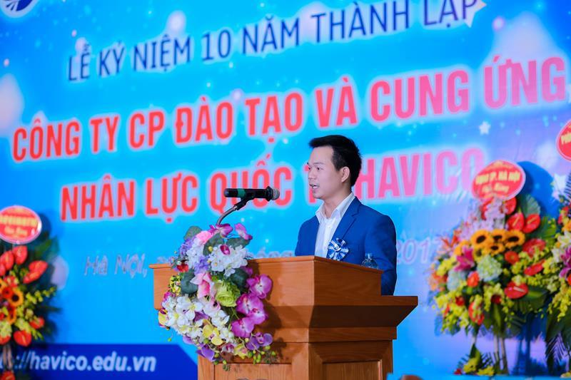 Ông Trịnh Đình Tài - Trưởng phòng Đào tạo HAVICO phát biểu tại sự kiện