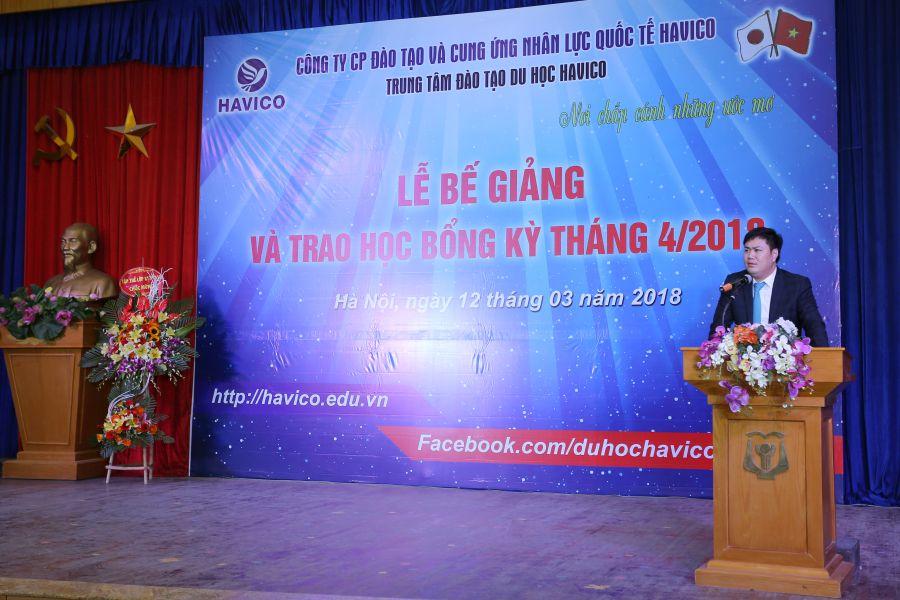 TS. Đỗ Minh Chính - Chủ tịch HĐQT kiêm Giám đốc HAVICO phát biểu tại sự kiện.