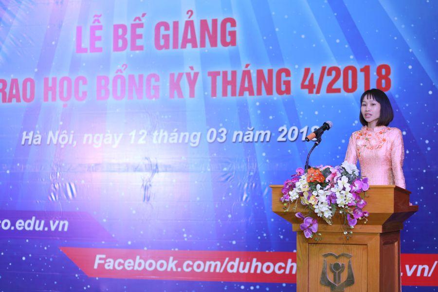 Cô giáo Đỗ Thị Thanh Loan đại diện cho tập thể giáo viên HAVICO chia sẻ về quá trình giảng dạy và những cảm xúc với nghề.