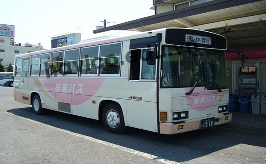 Xe buýt phương tiện đi lại của du học sinh tại Nhật Bản