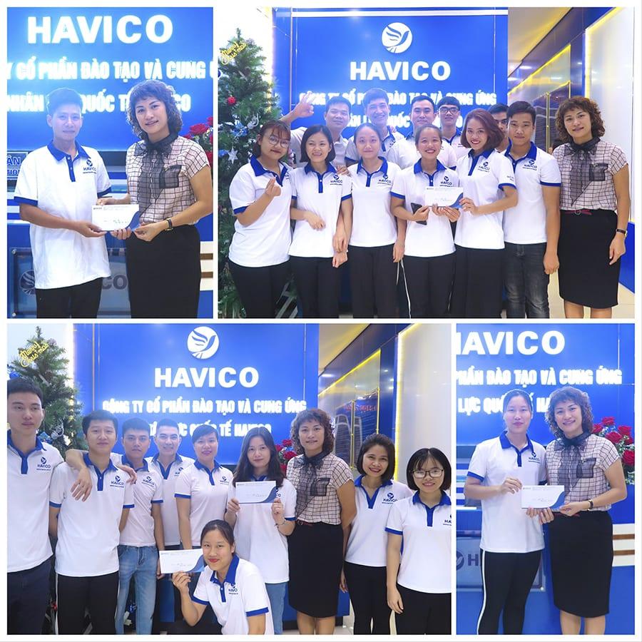 Các bạn học viên HAVICO đạt giải trong cuộc thi video lần 1
