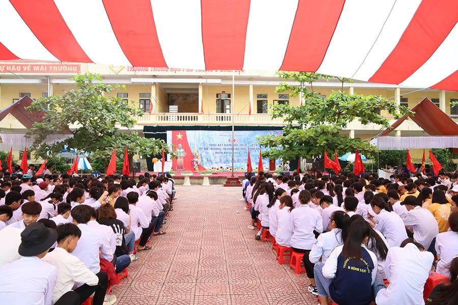 Buổi lễ tổng kết năm học 2018-2019 tại trường THPT B Bình Lục