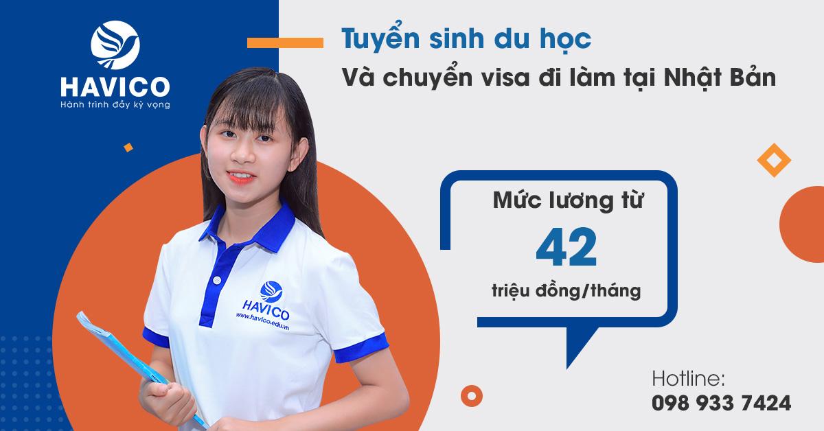 Tuyển sinh du học và chuyển visa lao động tại Nhật Bản