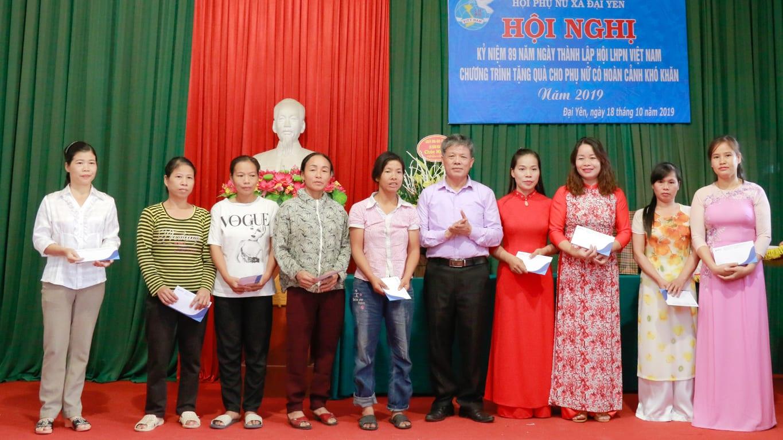 HAVICO tặng quà cho phụ nữ có khó khăn tại xã Đại Yên