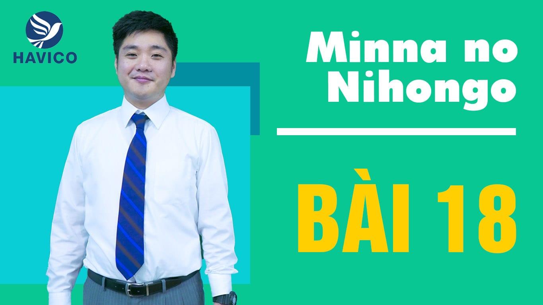 Từ mới bài 18 trong giáo trình Minna no Nihongo