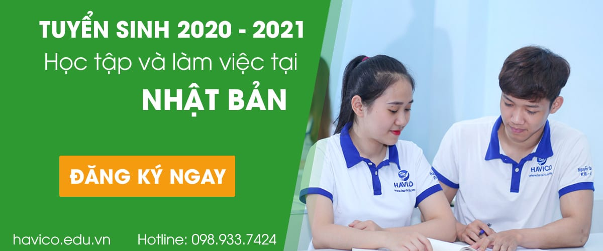 HAVICO tuyển sinh du học Nhật Bản 2020-2021