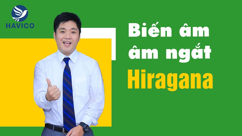 Biến âm và âm ngắt trong bảng chữ tiếng Nhật Hiragana