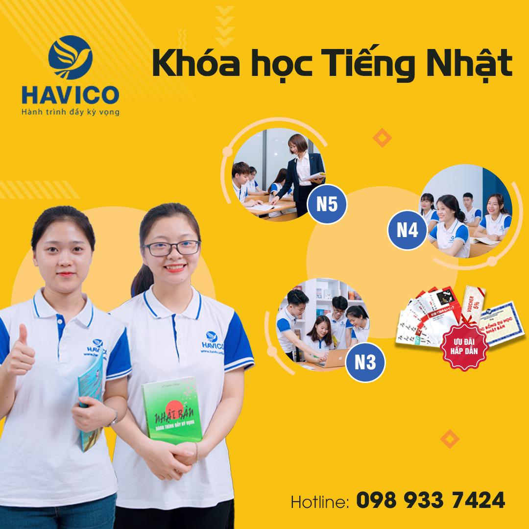 HAVICO - Khóa học tiếng Nhật