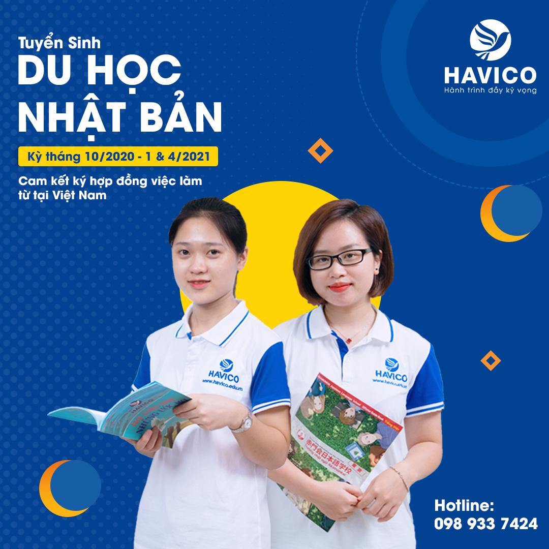 HAVICO Tuyển sinh du học Nhật Bản 2021