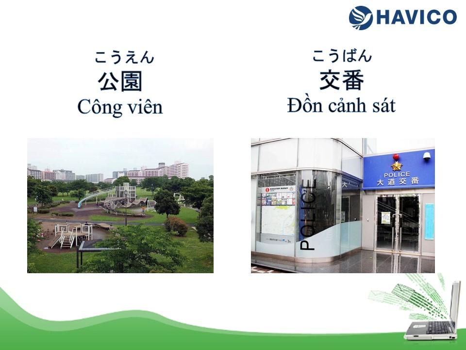 Từ vựng tiếng Nhật: Chủ đề địa điểm trong thành phố