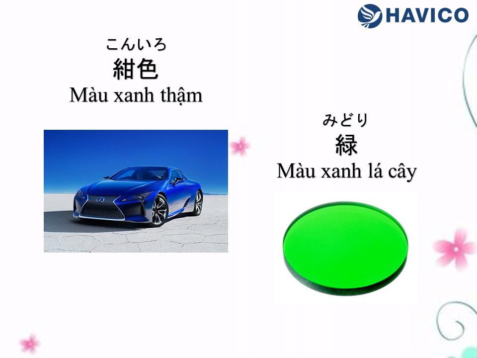 Từ vựng tiếng Nhật: Chủ đề mầu sắc