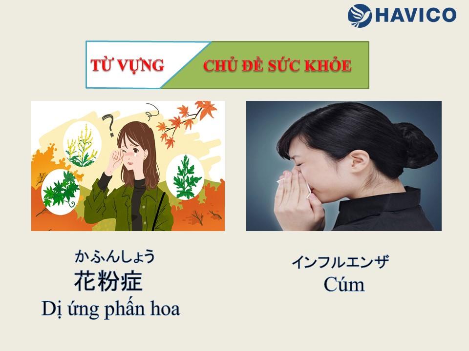 Từ vựng tiếng Nhật chủ đề sức khỏe