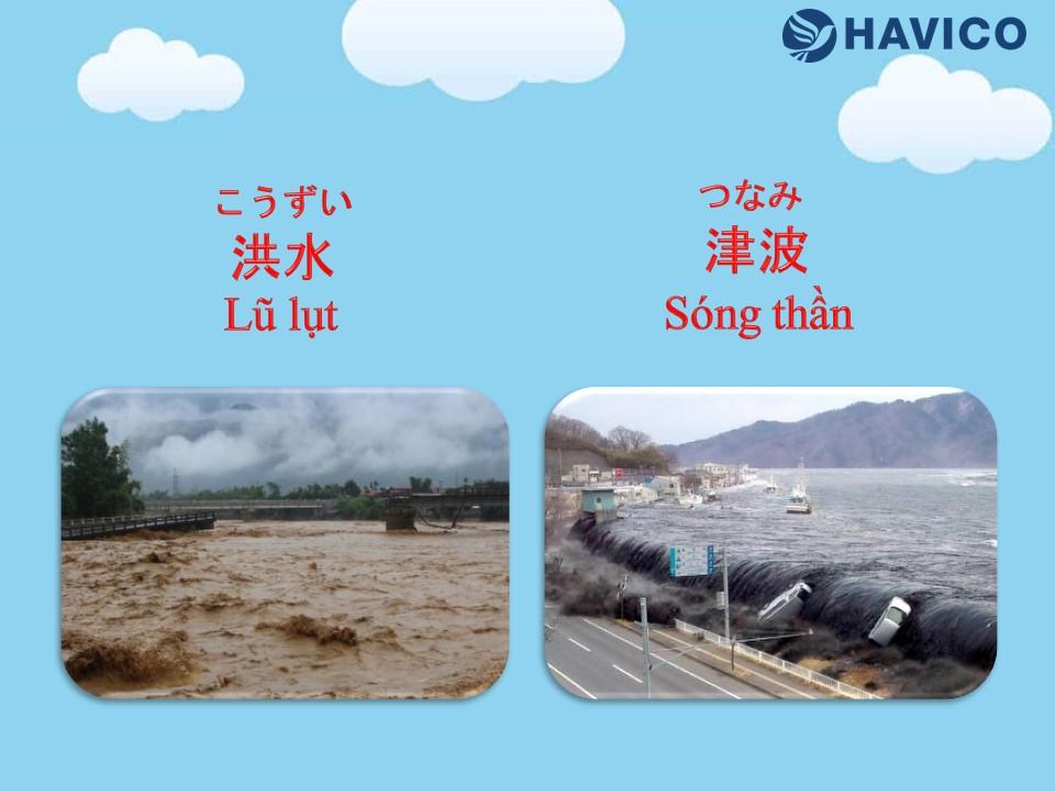 Từ vựng tiếng Nhật chủ đề thời tiết