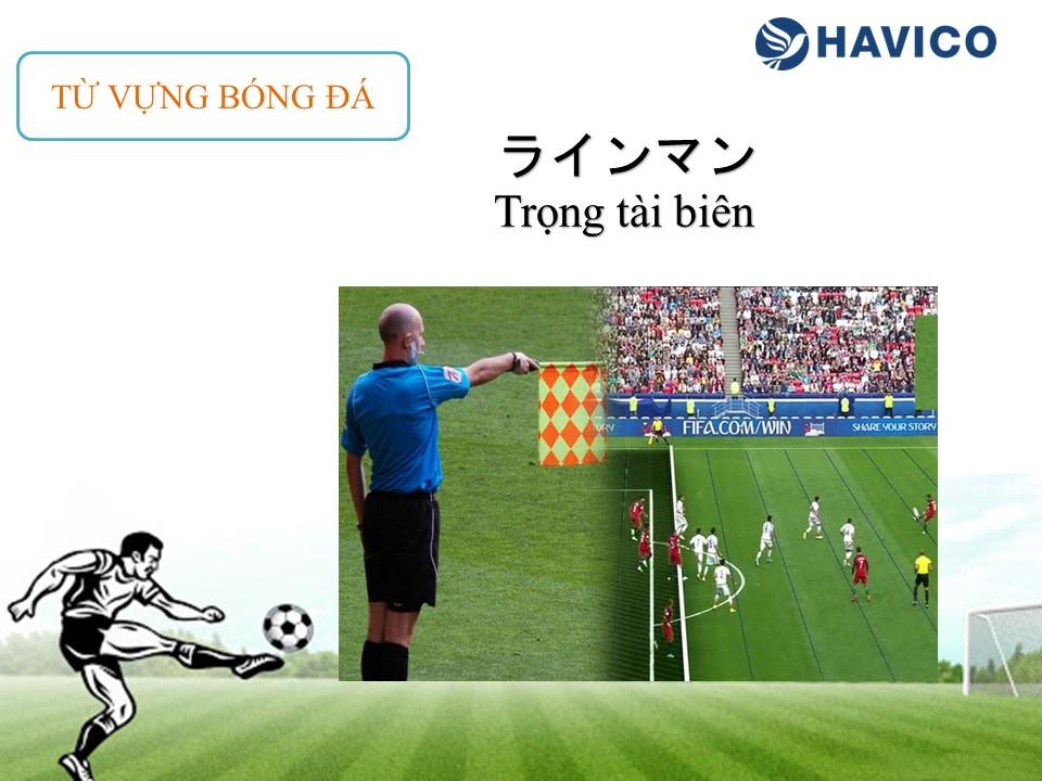 Từ vựng tiếng Nhật: Chủ đề bóng đá
