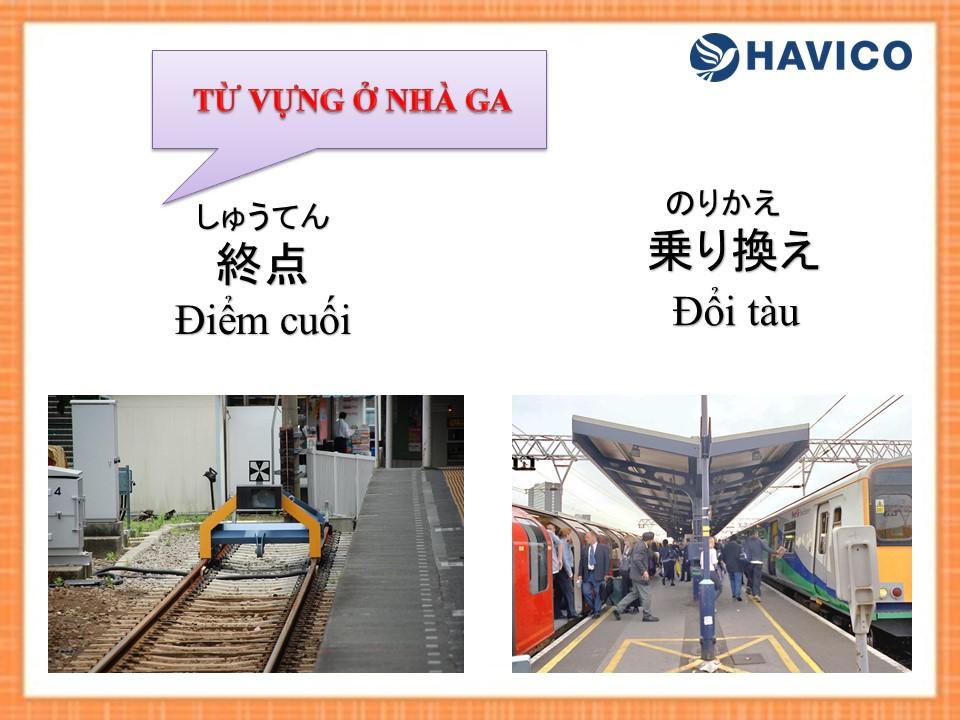 Từ vựng tiếng Nhật: Chủ đề nhà ga