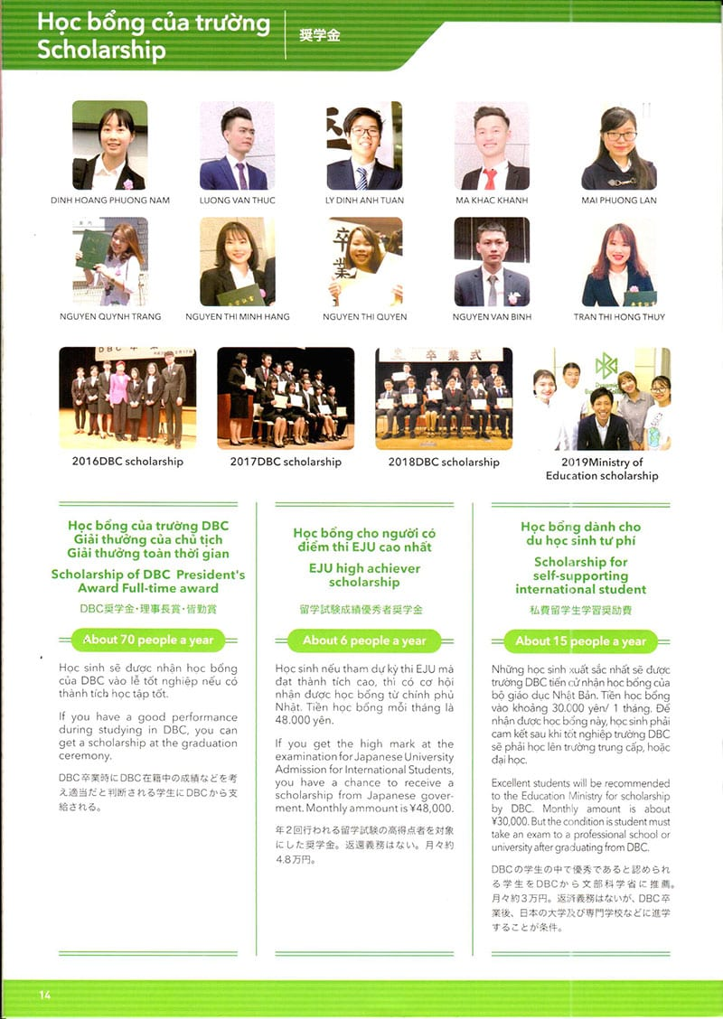 Giới thiệu trường Nhật ngữ Dynamic Business College (DBC)