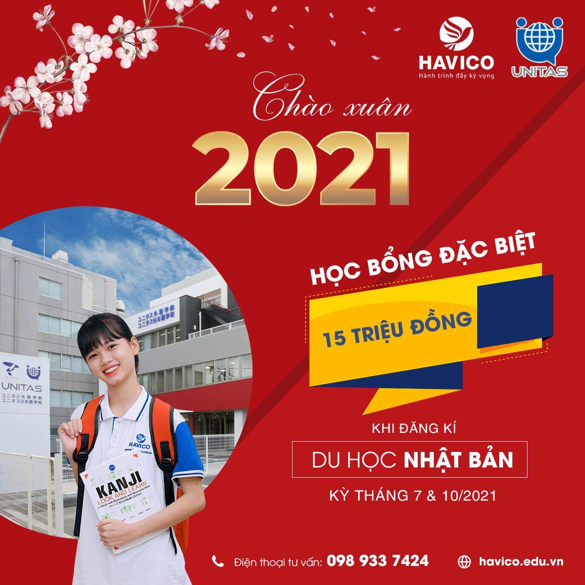 HAVICO tuyển sinh du học Nhật Bản kỳ tháng 7&10/2021