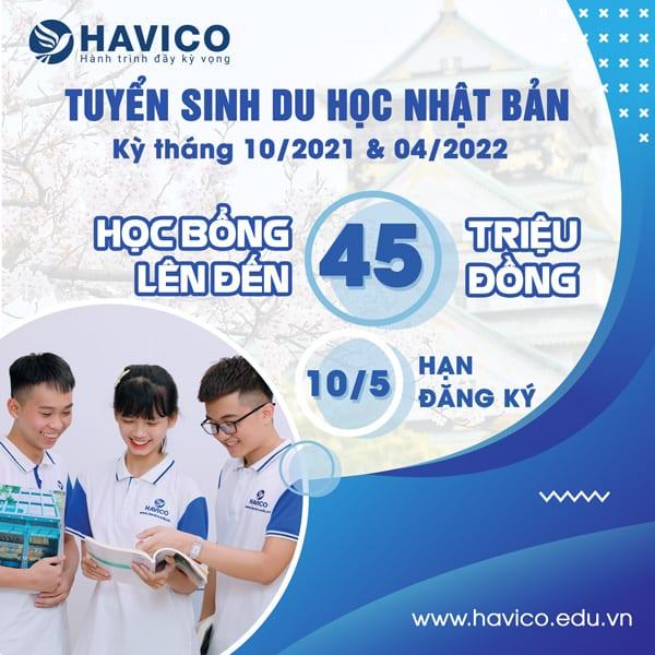 HAVICO tuyển sinh du học Nhật Bản